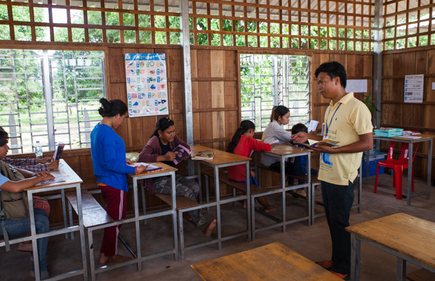 Class time at Volunteer Building Cambodia's Community Centre